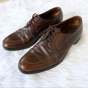 Florsheim Brown Leather Oxford Apron Toe Loafers